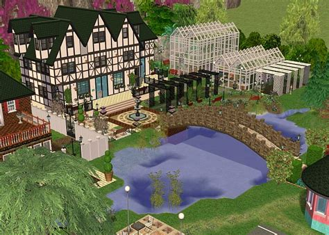 sims 2 garten mod the sims exclusive lot cheshire botanical gardens