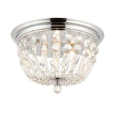 crystal bathroom ceiling light endon lighting thorpe 3 light semi flush bathroom ceiling