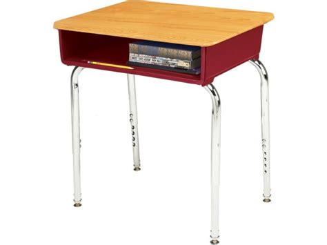 school desk ee2 adjustable height open front school desk woodstone edg 100ws student desks