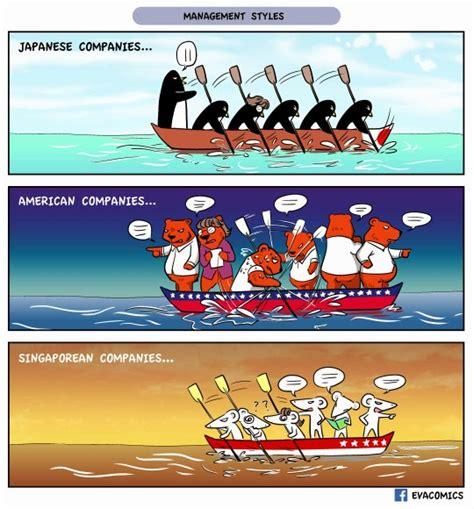 cartoon rowing boat management evacomics blog january 2015