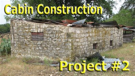 Diy Small House Plans by Stone Cabin Construction Part 1 Youtube