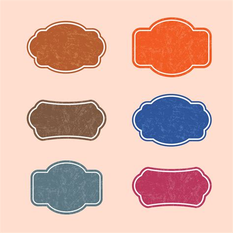 Retro Stickers Or Labels Or Frames Vector   Free Vector