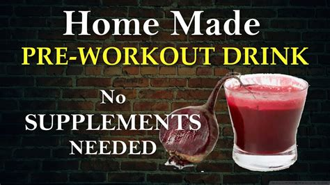 best home made pre workout no supplements needed