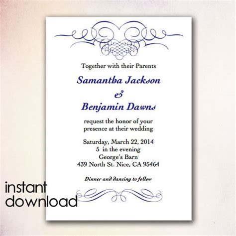 Microsoft Invitation Templates Invitations Word Template Microsoft Word Wedding Invitation Wedding Invitation Card Template In Word