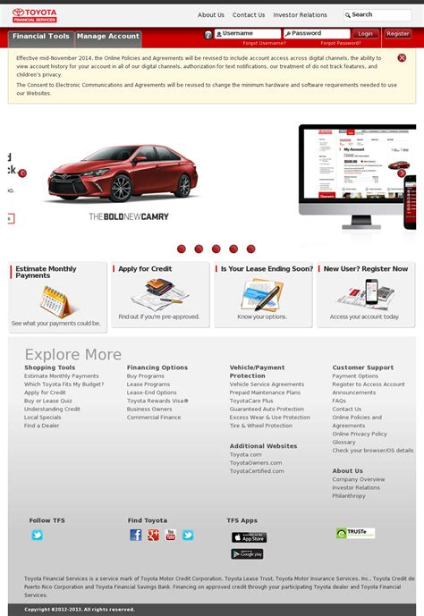 toyota financial services site toyota financial services company profile owler