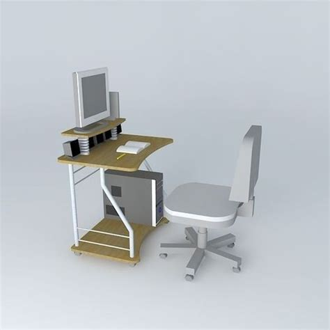 Desk Equipment by Computer Desk With Equipment Free 3d Model Max Obj 3ds Fbx