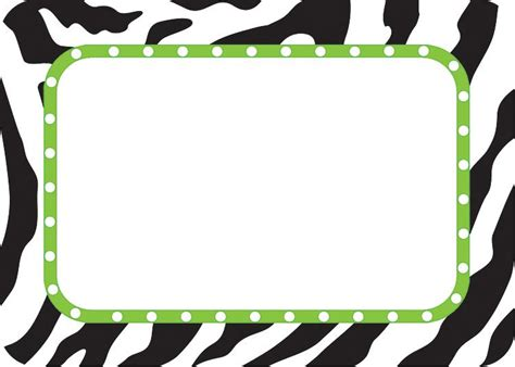 free printable zebra print name tags zebra name tags labels tcr5173
