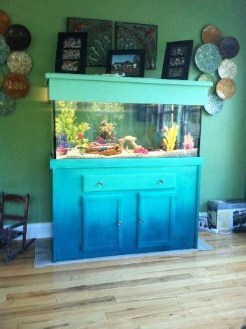 custom hand painted fish tank  bella verde  east