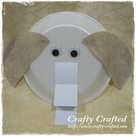 Elephant Paper Plate Craft - crafty crafted 187 archive crafts for children
