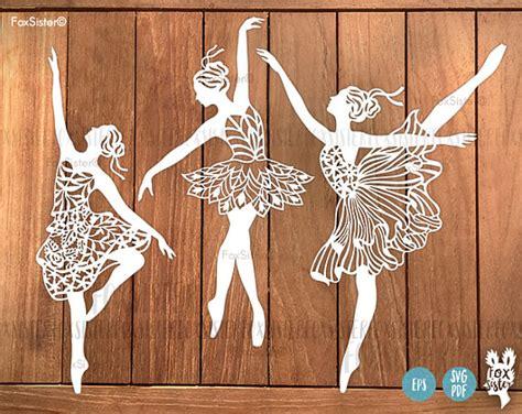 ballerina svg bundle  papercut templates set  ballet