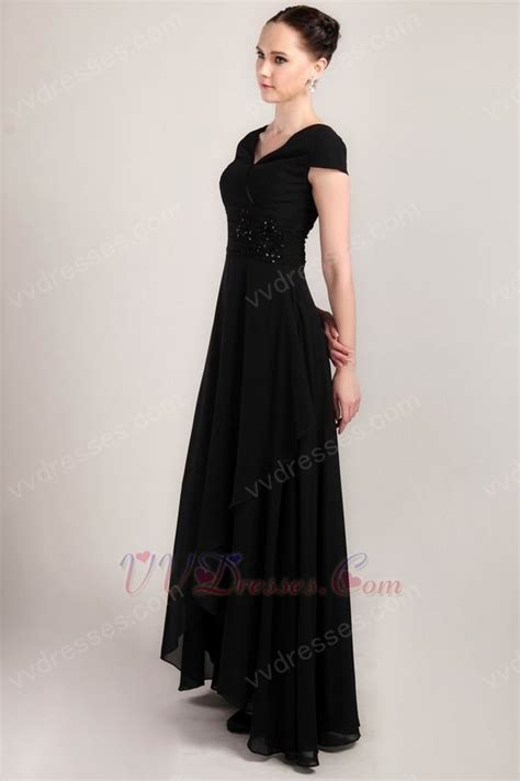 high low skirt black prom dresss cheap price high quality