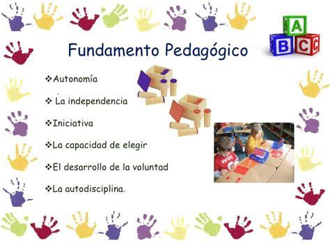 Modelo Curricular De Montessori Mar 237 A Montessori