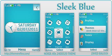 nokia x2 blue themes sleek blue theme for nokia x2 240 215 320 themereflex