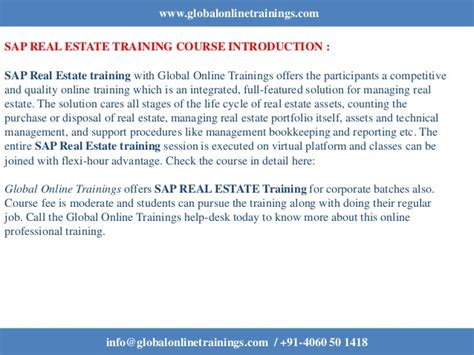 sap refx tutorial sap real estate training sap refx training got