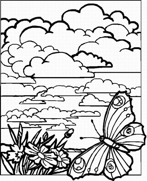 Coloring Page Landscape by Landscapes Coloring Part 6