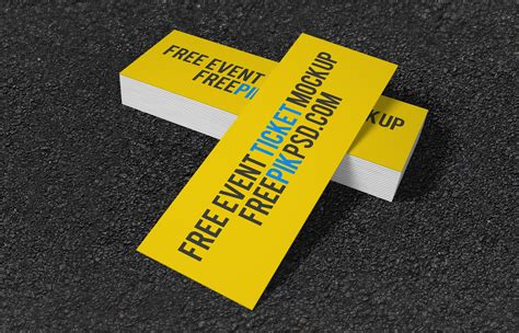 for free free event ticket mockup free design resources
