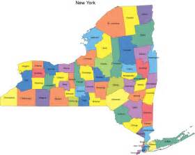 New York County Map by New York Map With Counties