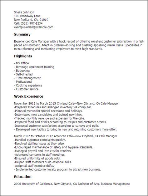 Bar Manager Cover Letter bar manager description resume