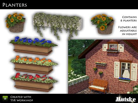 Sims 3 Planter Box by Mutske S Window Planters