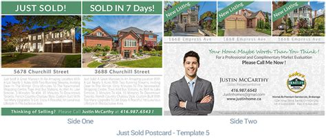 templates from other realtor post cards just sold real estate postcard