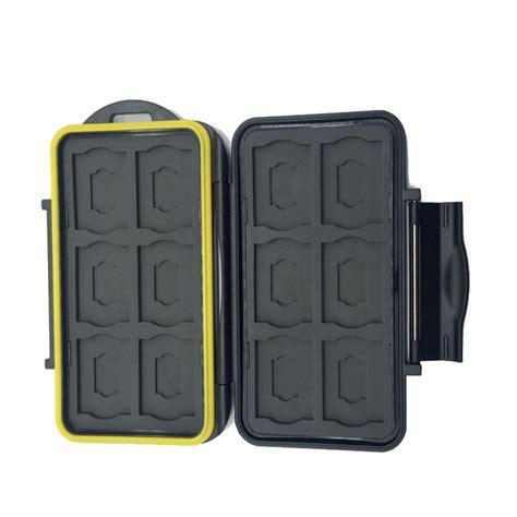 memory card mc sdmsd 24 slots waterproof storage slim card holder box 12 micro sd cards