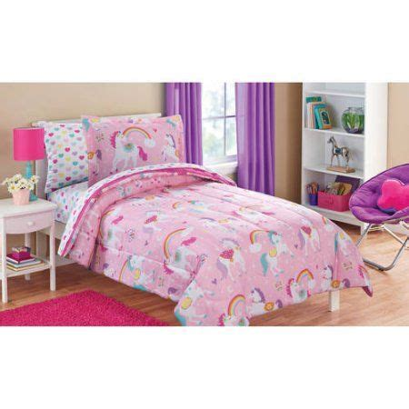 unicorn bedding for kids mainstays kids rainbow unicorn bed in a bag complete