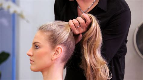 how to do a high ponytail long hairstyles youtube