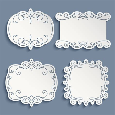 Paper Frames - decorative frame from paper vector frame paper 3 by