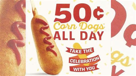 sonic corn dogs 50 cents 50 cent corn dogs at sonic on march 18 2016 chew boom