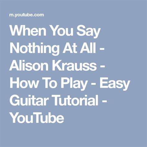 Tutorial Guitar When You Say Nothing At All | 62 best piano images on pinterest music artists and
