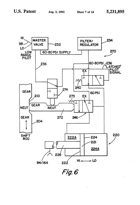 section shift patent us5231895 auxiliary section actuator air control