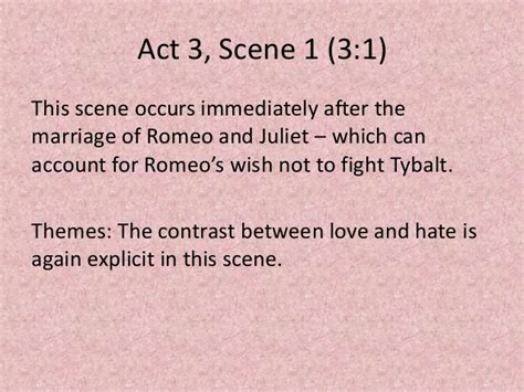 themes of romeo and juliet act 1 scene 4 powerpoint of activities