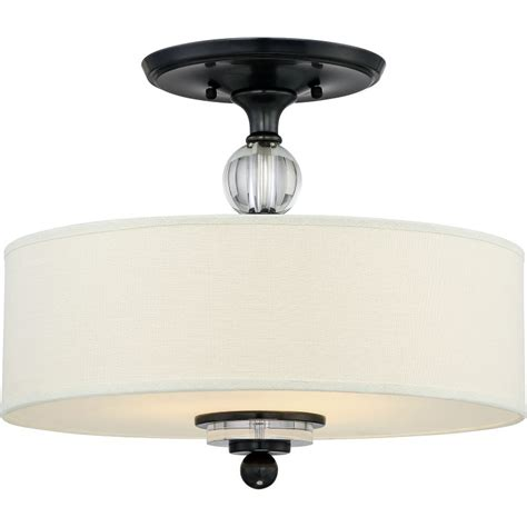 Quoizel Ceiling Light Quoizel Dw1717d Dusk Bronze Downtown 3 Light 17 Quot Wide Semi Flush Ceiling Fixture With Fabric