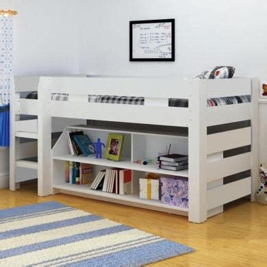 Lollipop Mid Sleeper Bed by Seconique Lollipop Mid Sleeper Bed In White Furniture123