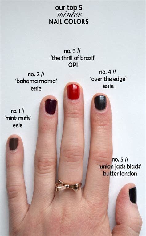 trendy winter nail colors     winter