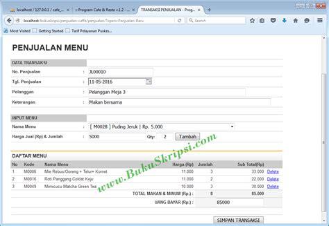cara membuat website rumah makan buku panduan membuat aplikasi penjualan menu makan pada