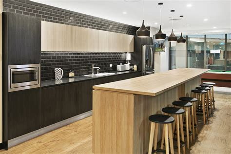 office kitchen design this stunning modern kitchen design is in polytec natural