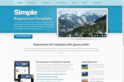 simple responsive template free simple responsive html5 theme html5xcss3