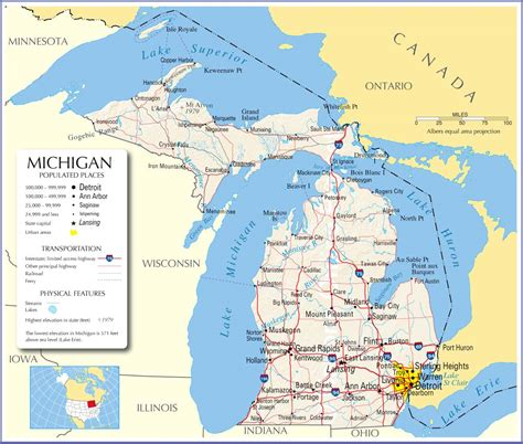 map michigan usa lower michigan map with cities quotes
