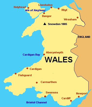 map of wales united kingdom wales scotland by roger j wendell