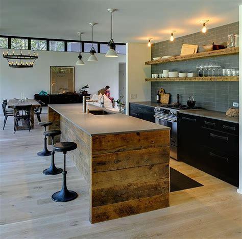 cuisine de loft deco cuisine loft bois ins ideal mag