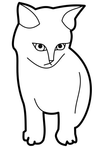 kitten face coloring page black and white cat face clipart best
