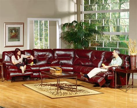 dark red sectional sofa cortez 3 piece dual reclining sofa sectional in dark red
