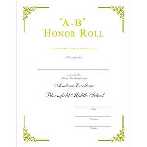 ab honor roll certificate jones supply