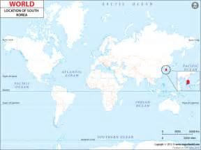 World Map Korea by Where Is South Korea Location Of South Korea