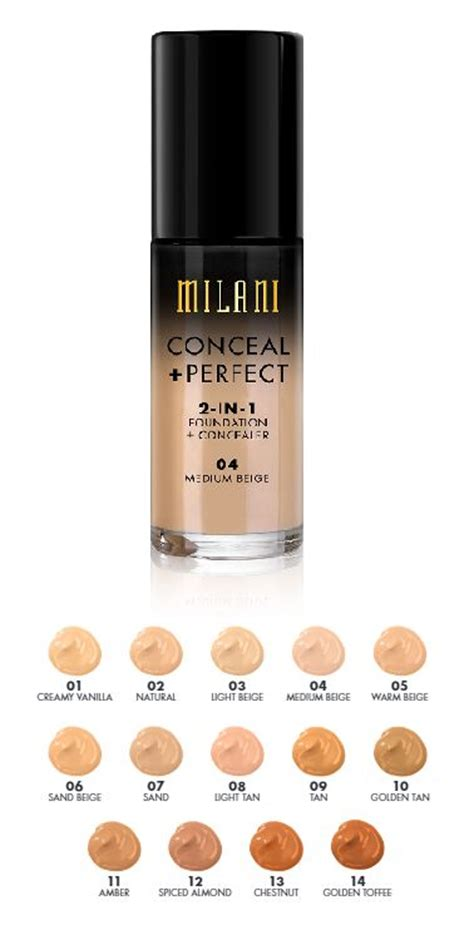 Foundation Milani Milani 2in1 Foundation And Concealer Shades Foundation