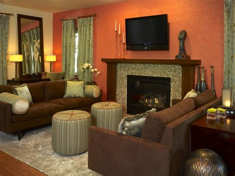burnt orange home decor 2013 transitional living room decorating ideas by andrea