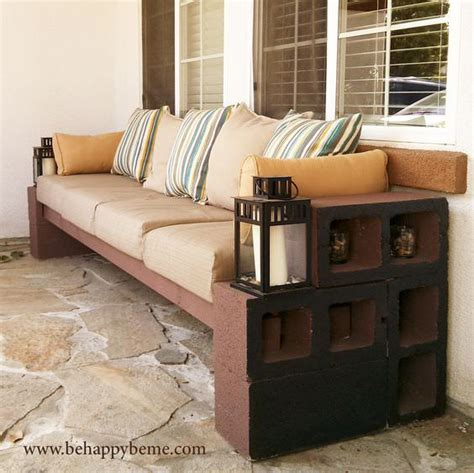 How To Make A Bench From Cinder Blocks 10 Amazing Ideas Cinder Block Patio Furniture