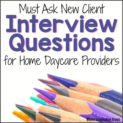 questions daycare providers should ask potential