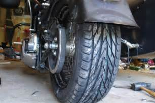 Car Tyre Cycle Car Tire On My Cruiser Motorcycle Thailand